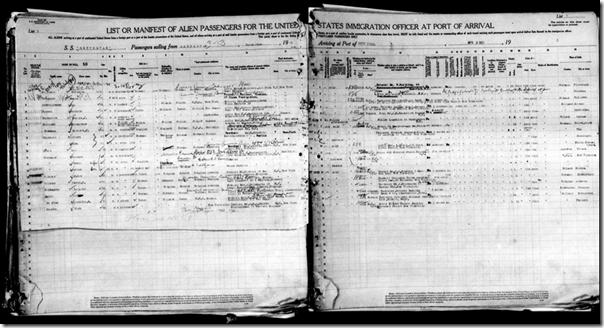 乘客列表通常在两页上运行