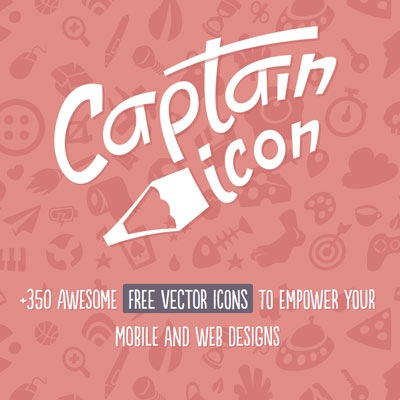 Aspecto de la web Captain Icon.