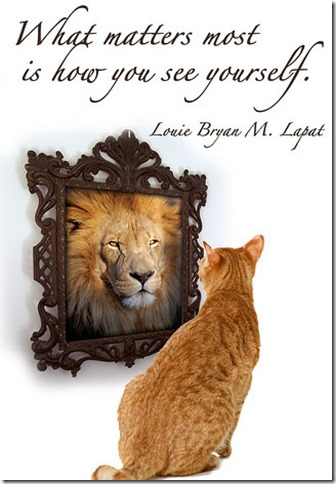 confidence-cat-mirror-lion-self-image