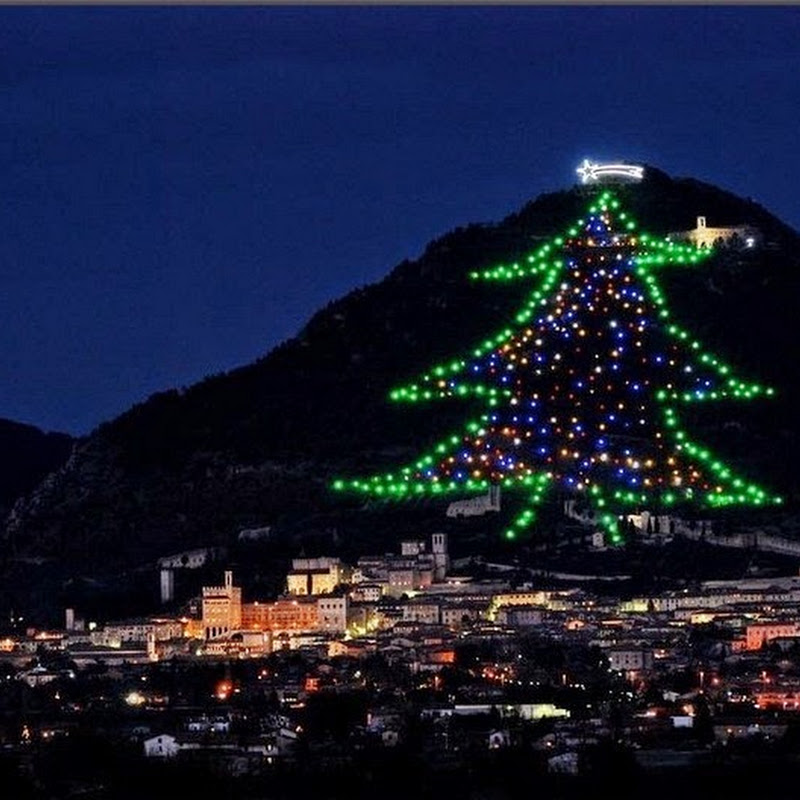 Gubbio's Enormous Christmas Tree on Mount Ingino