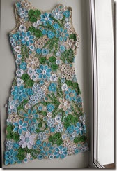 irish crochet blue dress