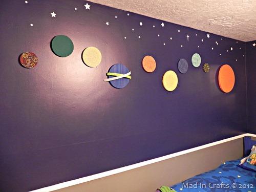 space geek bedroom solar system
