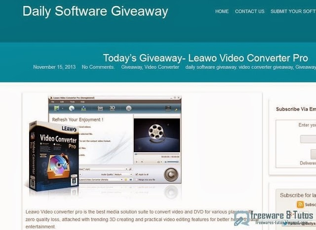 Offre promotionnelle : Leawo Video Converter Pro gratuit !