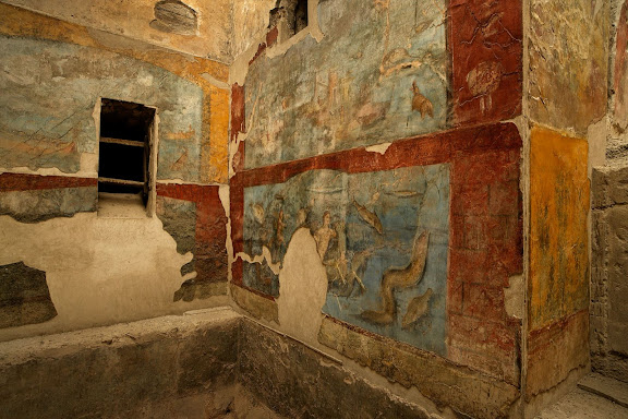 Termas suburbanas de Puerta Marina.FrigidariumAntigua ciudad romana de Pompeya.Pompeya, Italia