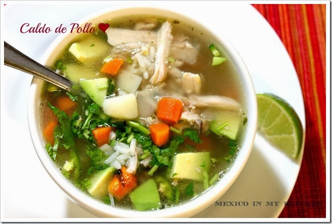 Mexican Chicken Soup | how to make caldo de pollo