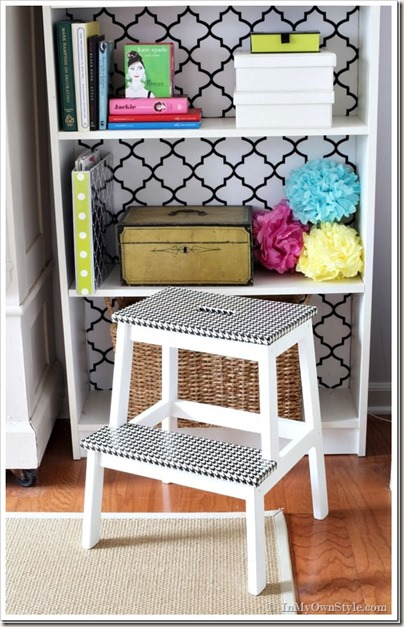 Step-stool-furniture-makeover-with-Houndstooth-Duct-tape_thumb