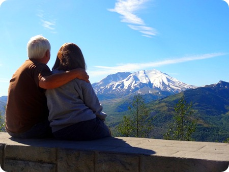 looking at Mount St. Helens