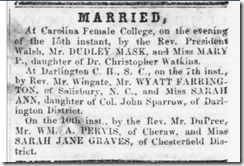 Marriage - William & Sarah Graves Purvis