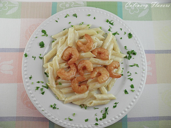 Pasta Alfredo with Shrimps.JPG