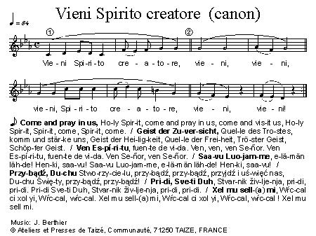 Veni creator spiritus sheet music