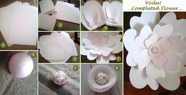 Diy Large Paper Flower Dream Events In Paper The Beginning Of