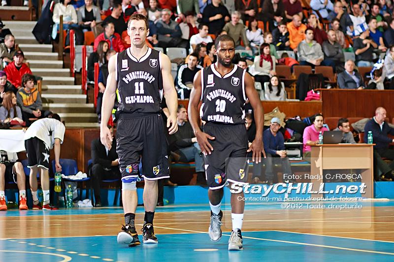 Stephen Ross & Derek Wright JR / BC Mureș - U Mobitelco, 30 noiembrie 2012