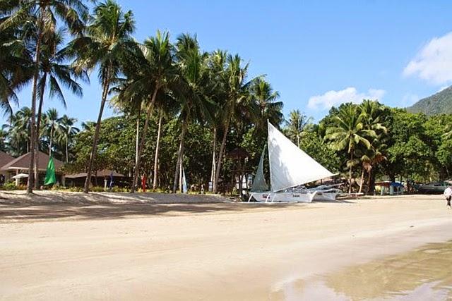 Spiaggia a Sabang Isola di Palawan