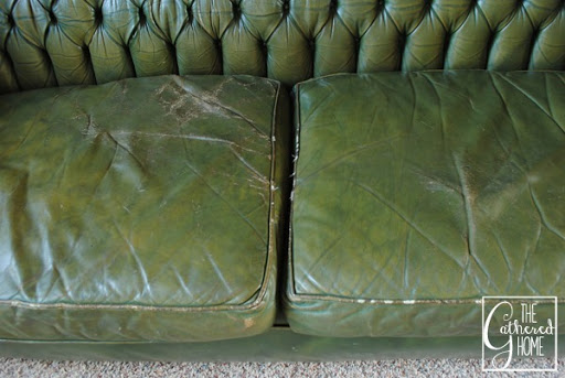 Green Tufted Leather Sofa 11