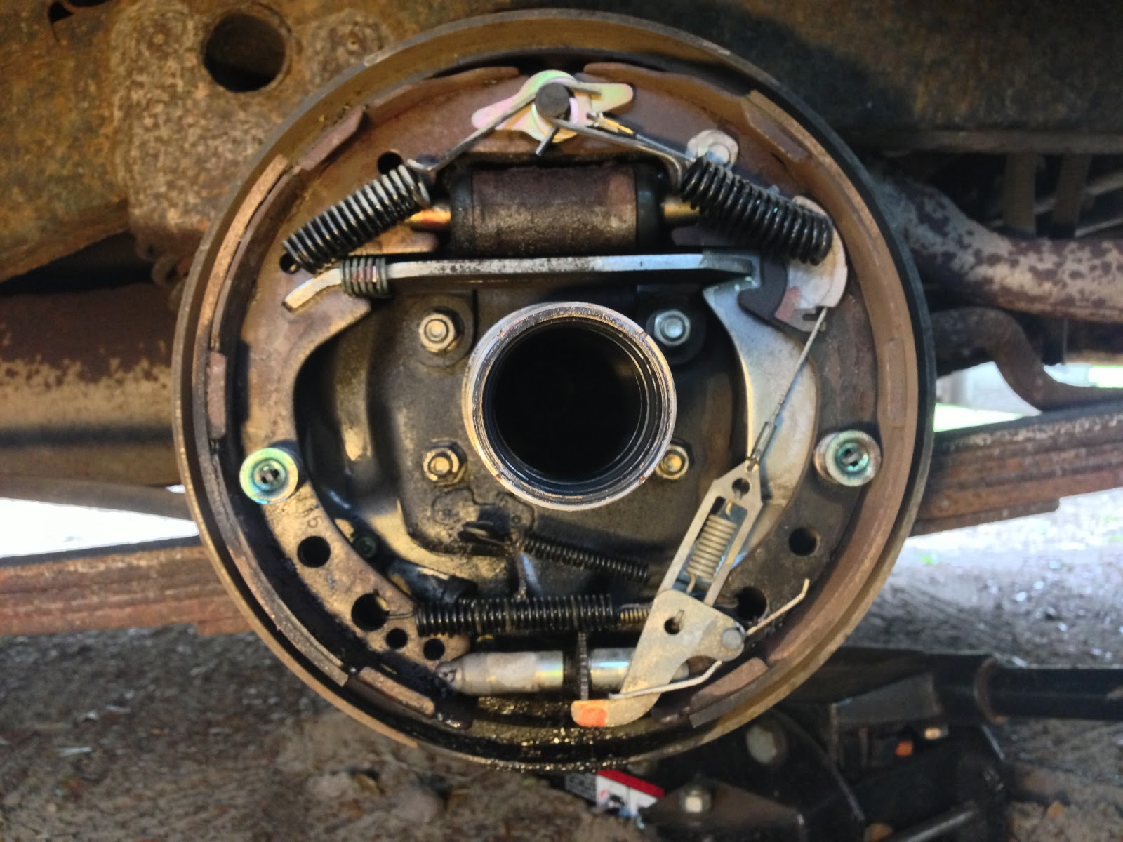 F350 Emergency Brake Repair Pictures
