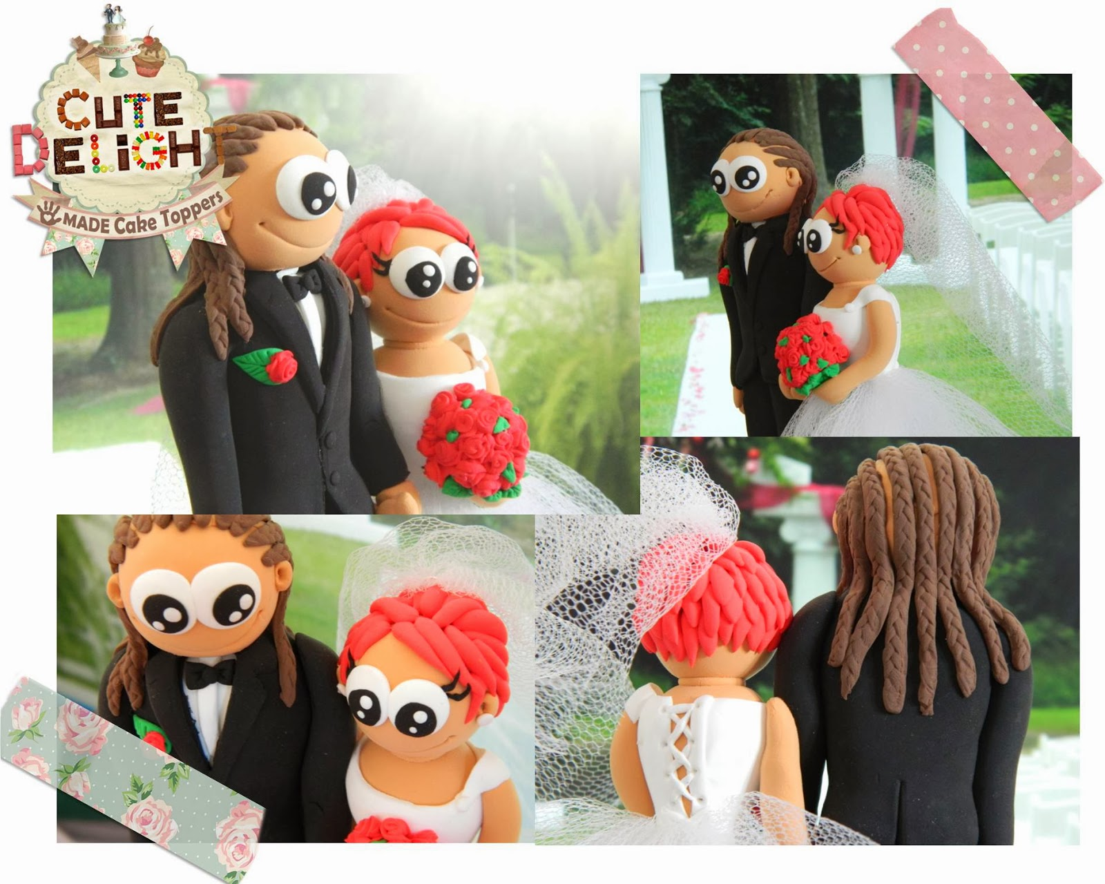 funny wedding cake toppers bride and groom