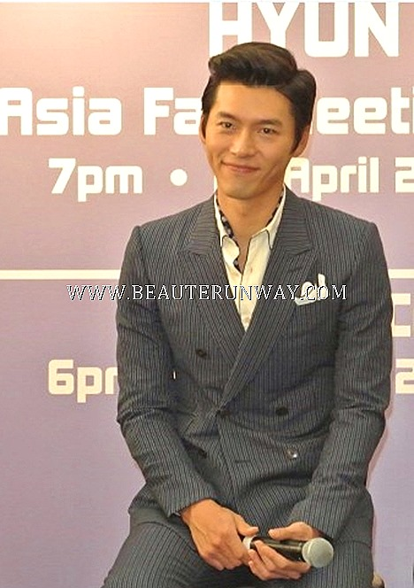 HYUN BIN Asia Tour Singapore China Korean drama  Shanghai Hong Kong GuangZhou Bangkok Taipei Fans Meet 2013 Korean Star Actor Secret Garden co-star Ha LI Won My lovely My Name is Kim Sam Soon Hallyu concert actress Kpop KTO