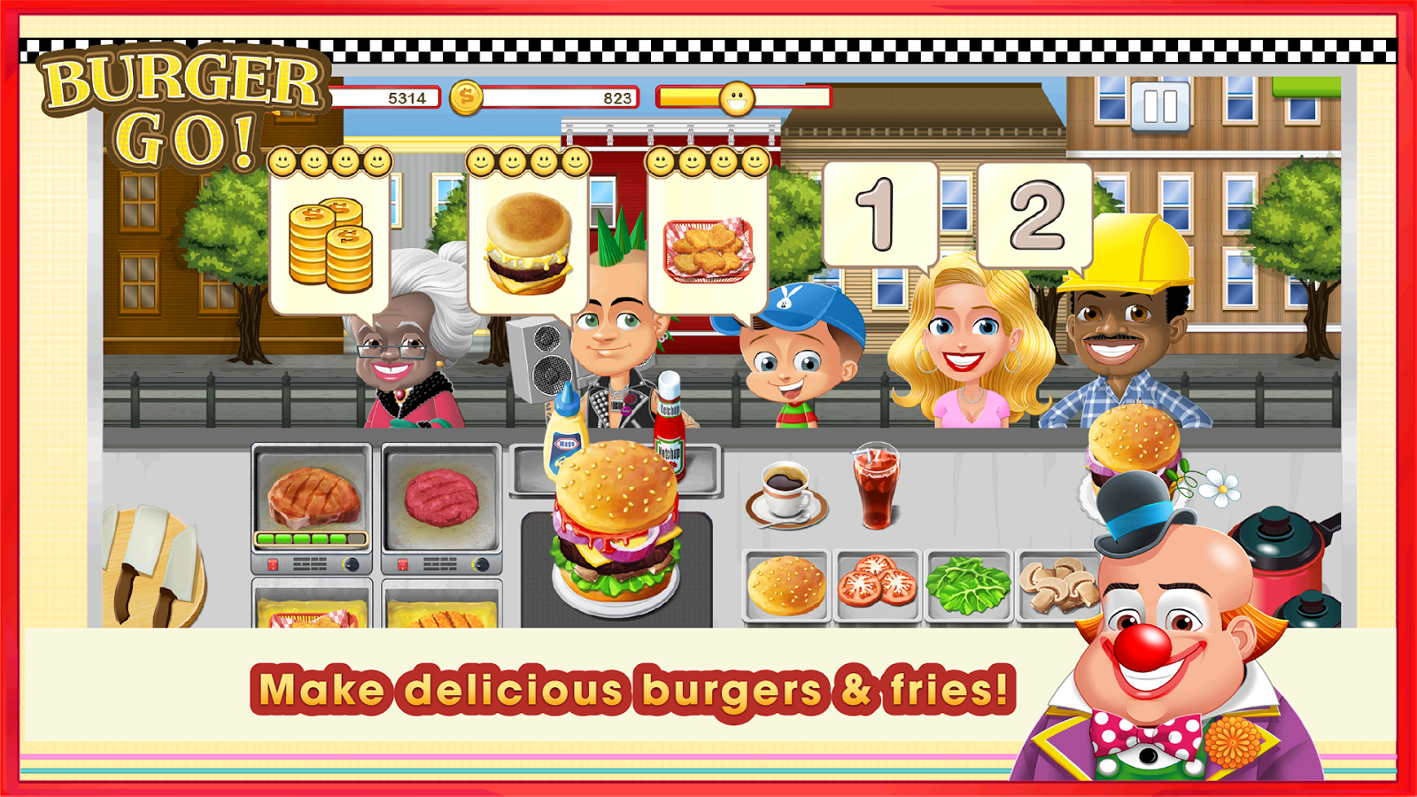 Burger Go - Fun Cooking Game- screenshot