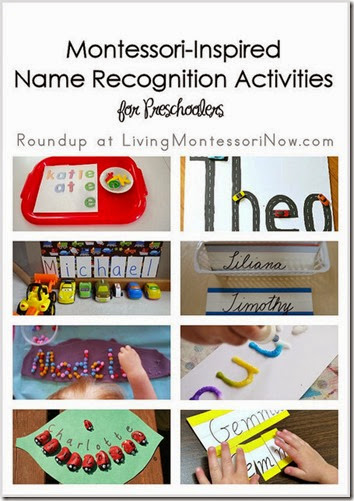 Montessori-Inspired Name Recognition Activities for Preschoolers from Living Montessori Now