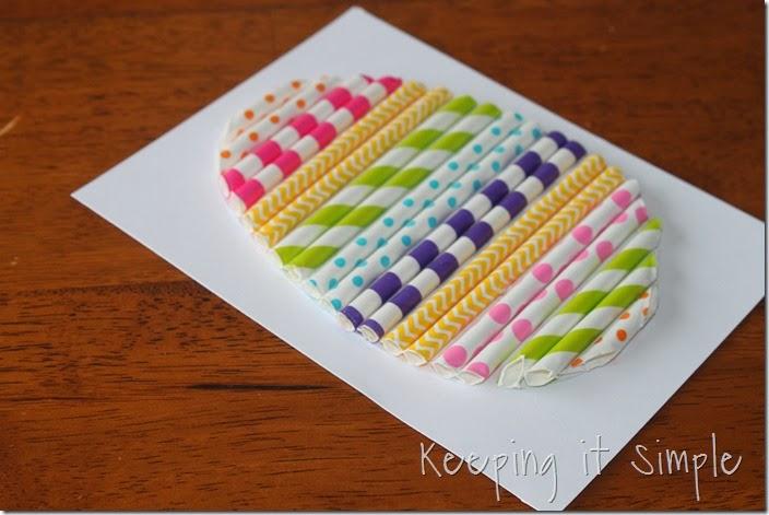 Paper Straw Easter Egg 3