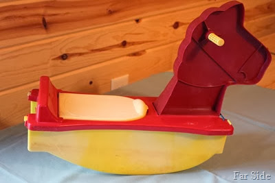 Rocking Horse with storage under the seat. Gay Toys Inc Walled Lake Michigan $20