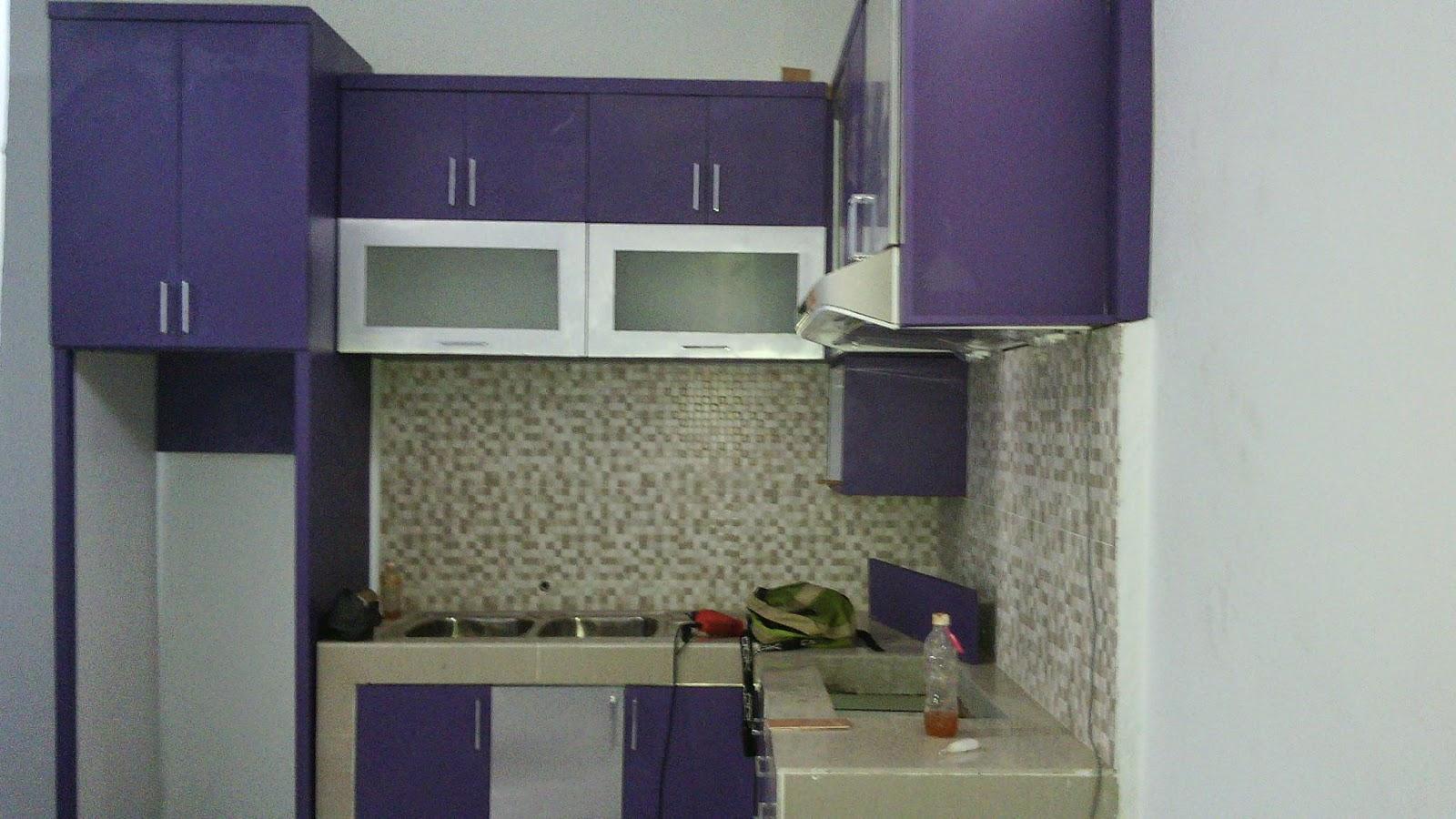 Kitchenset Modern Minimalis Kitchenset Ungu Silver