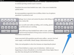 Move the Split Keyboard on iPad