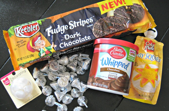 supplies to make Halloween cookies