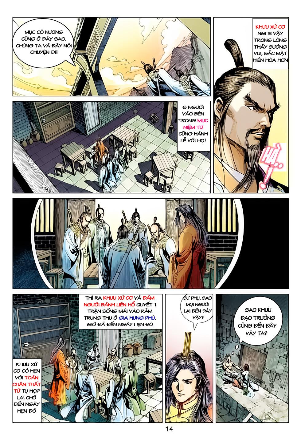 Anh Hùng Xạ Điêu anh hùng xạ đêu chap 61: thất tử chiến thiết thi trang 14