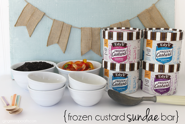 frozen custard sundae bar GingerSnapCrafts.com