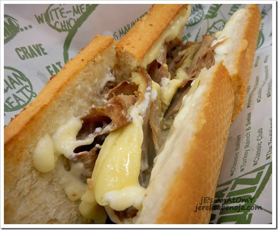 Double Cheese Cheesesteak, Quiznos