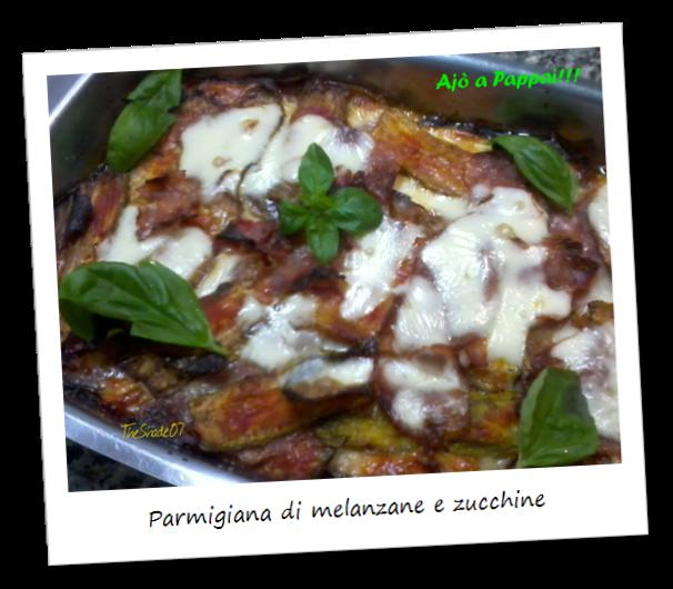 Fotografia della ricetta parmigiana di melanzane e zucchine