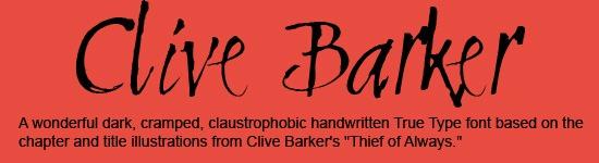 Clive-Barker-Font