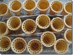 rows of ice cream cones