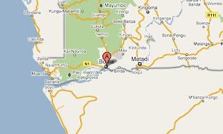 Carte de la ville de Boma dans le Bas Congo.