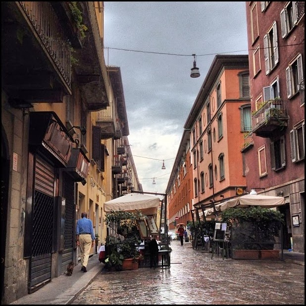 Raining in Brera, Milan