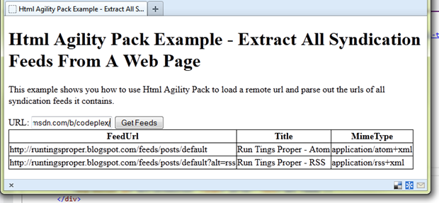 A straightforward method to detecting RSS and Atom feeds in websites