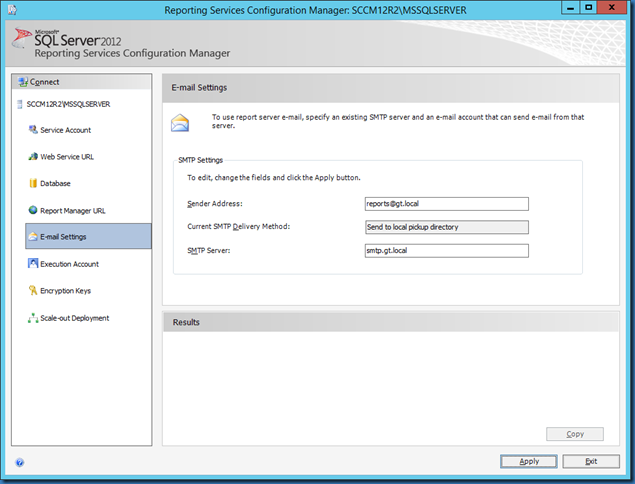 MINDCORE BLOG: Email option missing from SCCM 2012 R2