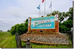 Bossier City Welcome Sign