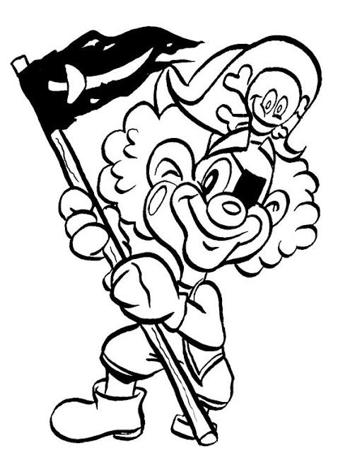 Kleurplaten Piratenvlag.Piratas Para Colorear