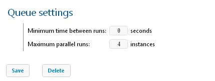 FlowForce Server job queue settings