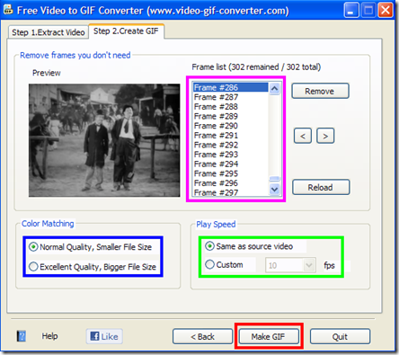 Free Video to GIF Converter Step 2