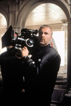 james cameron on the set of TITANIC