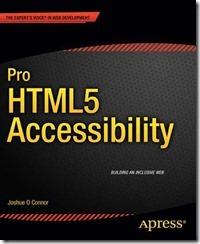 Portada del libro Pro HTML5 Accessibility