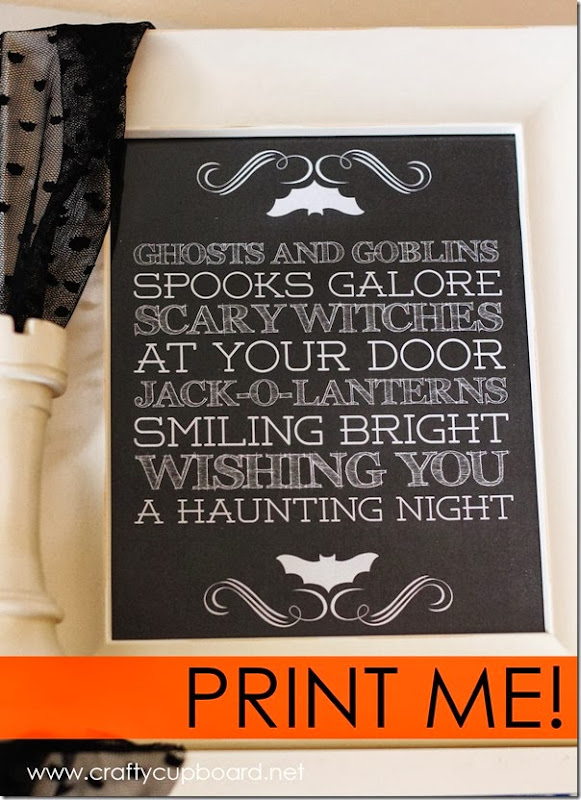 Ghosts & Gobblins Printable by Crafty Cupboard.