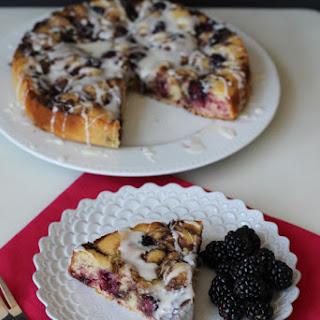 Blackberry Cinnamon Roll Cake