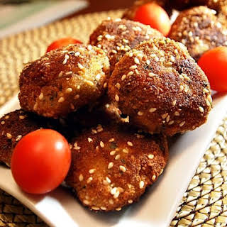 Breaded Turkey Meatballs.
