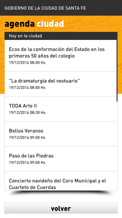 Agenda Ciudad SFC- screenshot