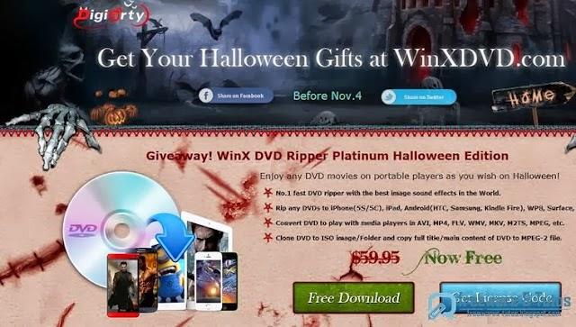 Offre promotionnelle : WinX DVD Ripper Platinum gratuit (spécial Halloween 2013) !