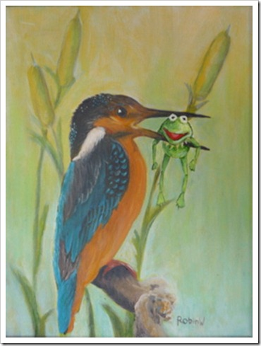 kingfisher and the frog